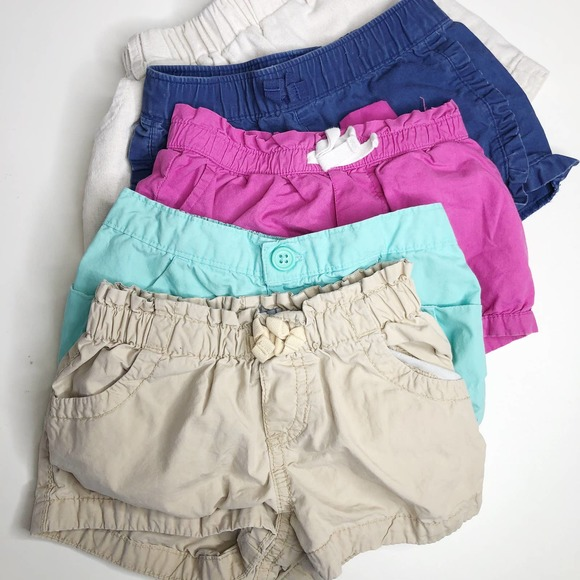 Old Navy In the Pink Elastic Waist Shorts 12 Months to 3T